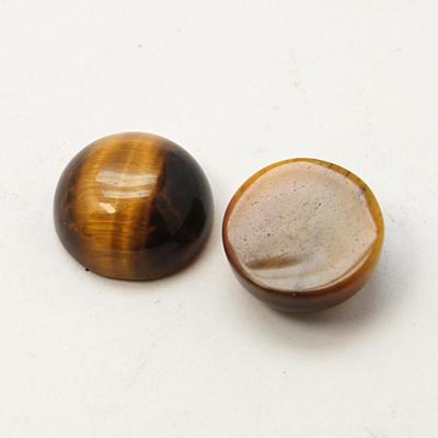 Tigerøje cabochon brun ca.10 mm