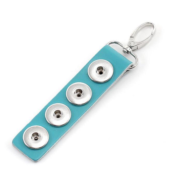 Nøglering til pynteknapper med tryklås Blå