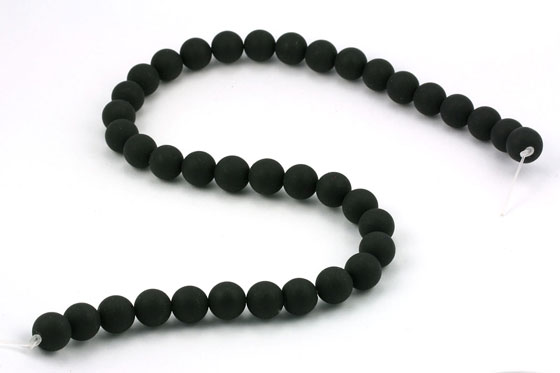 Blackstone perler matte 10 m/m streng 40 cm