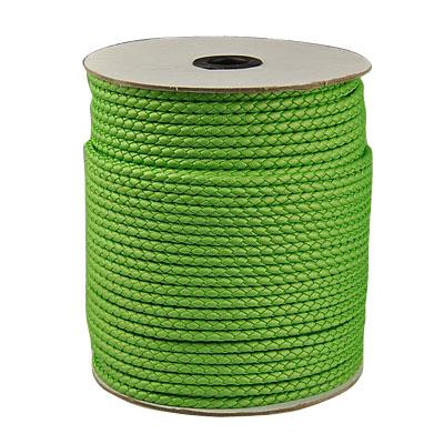 Imiteret lædersnøre limegrøn 4 mm