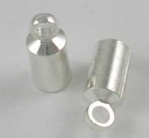 Enderør med øje 4x9,5 mm sølv farve