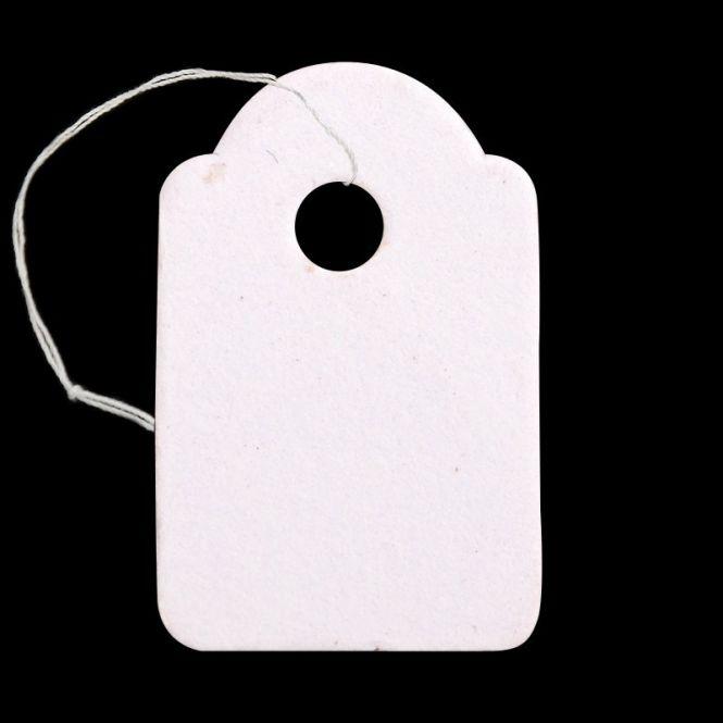 Prismærke hvid 20x13 mm  500 stk