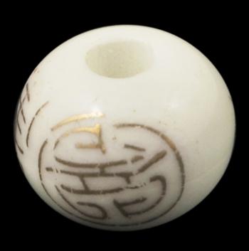 Porcelæns perler håndlavede 12x9 mm hvid