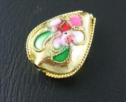 Cloisonne perler dråbe guld