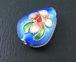 Cloisonne perler dråbe blå