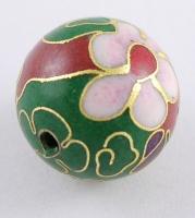 Cloisonne perler 16 m/m grøn
