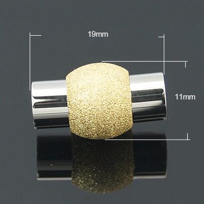 Rustfri stål lås stardust guld hul 5,5 mm