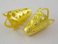 Perlehatte / kræmmerhus guldfarvet  20 stk