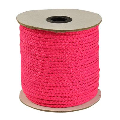 Imiteret lædersnøre flad 4x1 mm pink