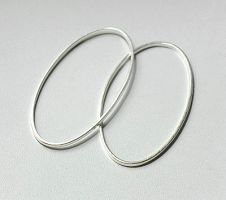 Mellemled oval sølv farvet 20 stk 16x26 mm
