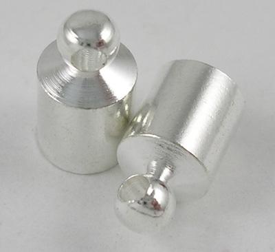 Enderør med øje 5x8,8 mm sølv farve
