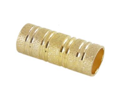 Perlerør med mønster guld farve 10 stk
