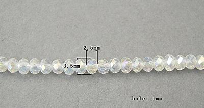 Glasperler ca.3,5x2,5 mm klar AB