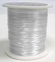 Elastiktråd, hvid 0,5 mm, ca.60 mtr