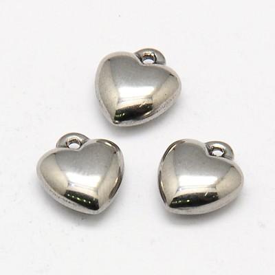 Rustfri stål vedhæng hjerte charm