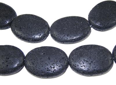 Lava perler oval 27 x 20 mm