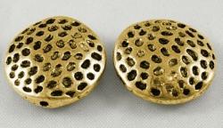 Tibetanske sølv perler golden 10 stk