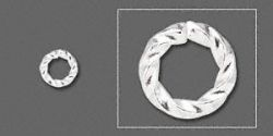O-ring sølvbelagt twisted 3,7 mm hul