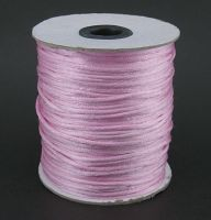 Knyttesnor lys pink 2 mm