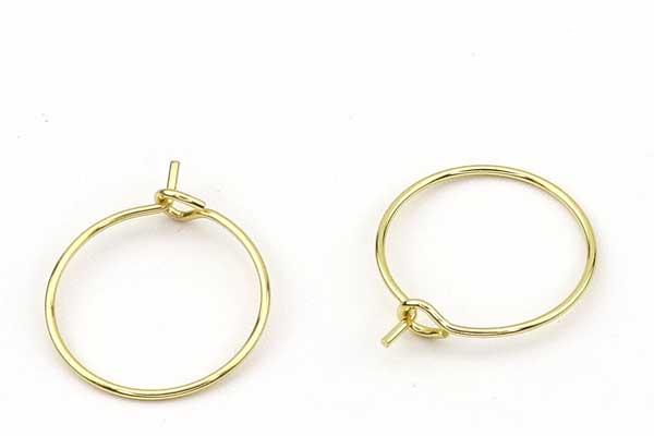 Creoler ørering rustfri stål 15 mm guld 10 par