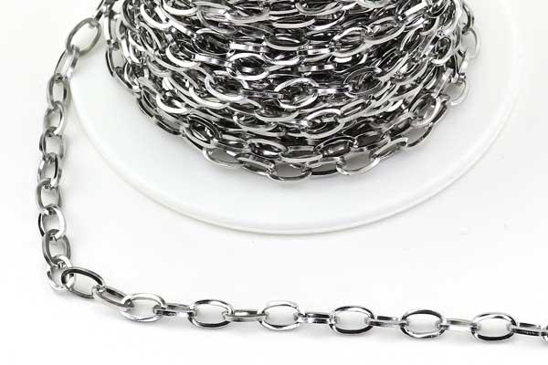 Rustfri stål kæde 7 x 4 mm