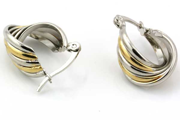 Ørehænger rustfri stål sølv/guld