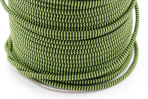Faldskærmsline 4 mm Grøn/sort