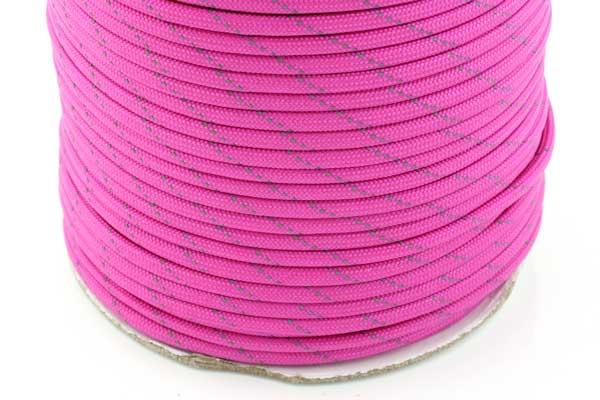 Faldskærmsline 4 mm Pink refleks