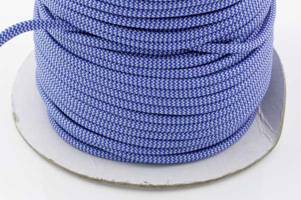 Faldskærmsline 5 mm Blå/hvid bølge