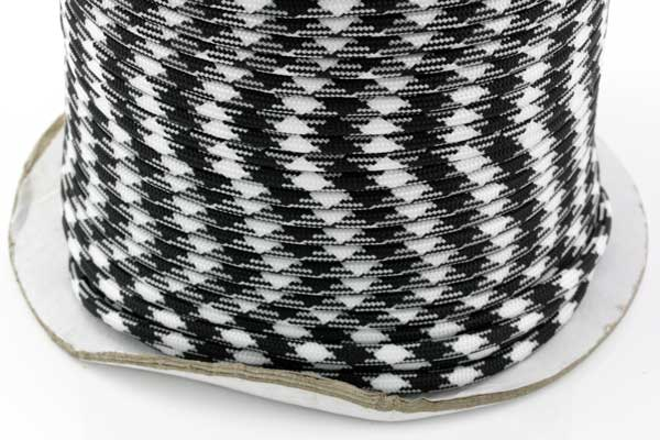 Faldskærmsline 6 mm Sort/hvid camo
