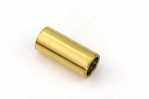 Rustfri stål lås mat guld hul 6 mm