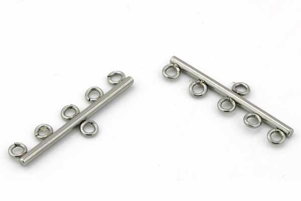 Kædesamler rustfri stål med 5 ringe
