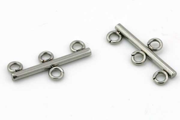 Kædesamler rustfri stål med 3 ringe
