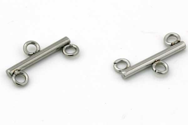 Kædesamler rustfri stål med 2 ringe