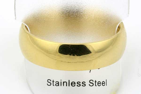 Fingerring rustfri stål glat Guld