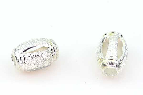Stardust perler oval sølv