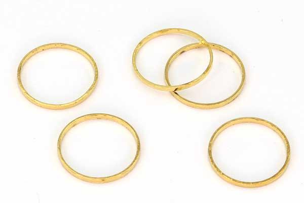 Rustfri stål rør hul ca. 6,8 mm Guld