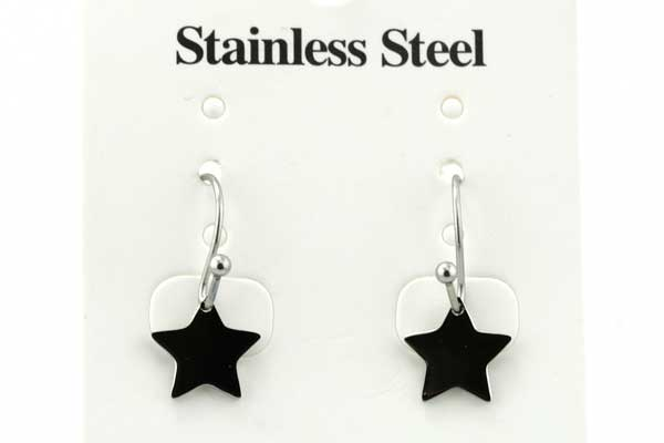 Rustfri stål ørehænger stjerne