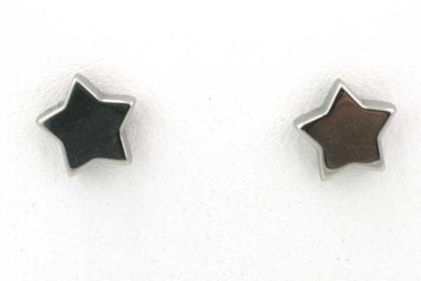 Rustfri stål ørestikker stjerne 6 mm