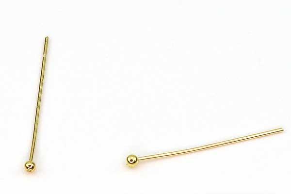 Perlestilk Guld 0,5 x 20 mm 100 stk