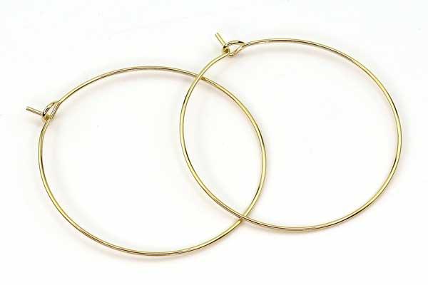 Creoler ørering rustfri stål 35 mm guld 5 par