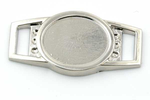 Shoelace charm sølv farve