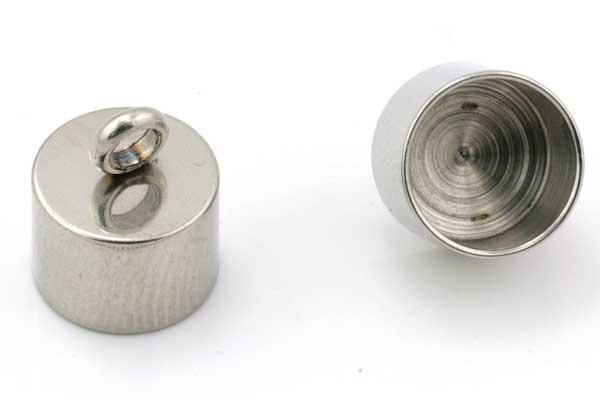 Rustfri stål enderør 10 mm hul 10 stk