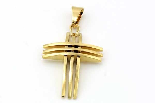 Rustfri stål Vedhæng guld kors