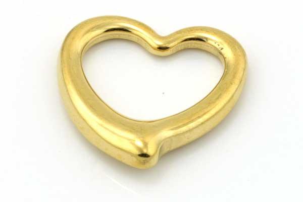 Rustfri stål Vedhæng guld 24x23 mm