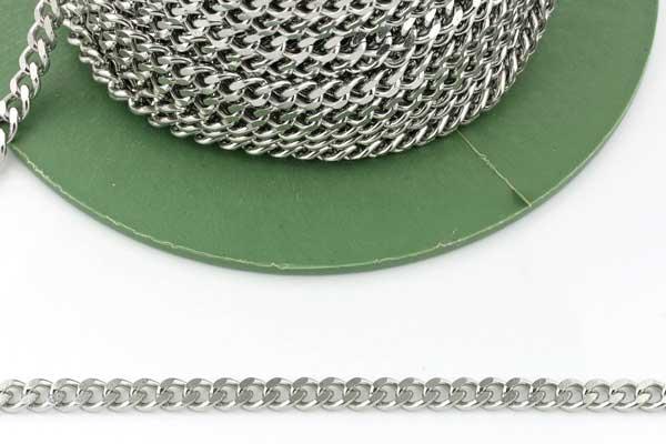 Rustfri stål kæde 5,5x2,5 mm