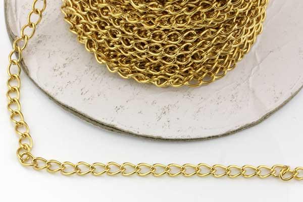 Rustfri stål kæde 5,5 x 4 mm Guld