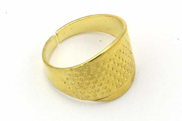 Fingerbøl/Nålering guldfarve