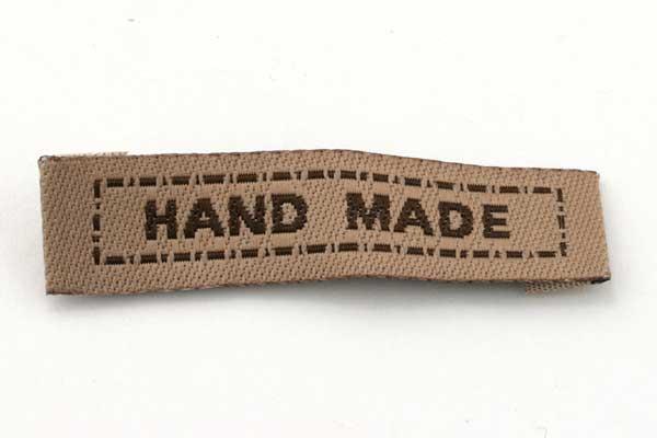 Hand made mærke 40x10 mm Brun
