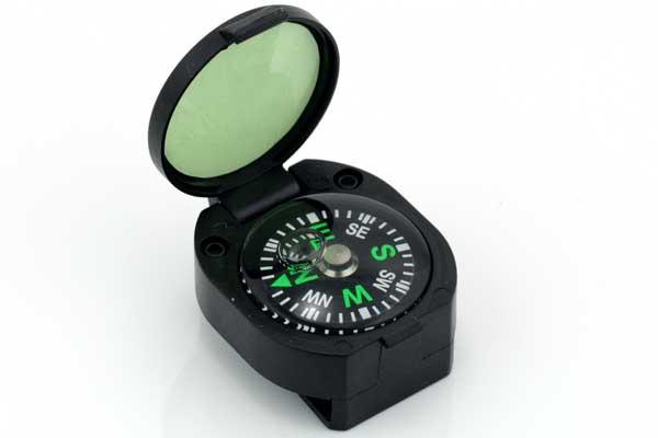 Kompas med låg til Faldskærmsline armbånd